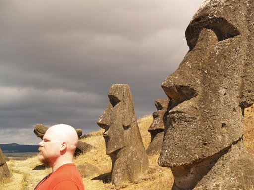 AF Grant blends in on Easter Island